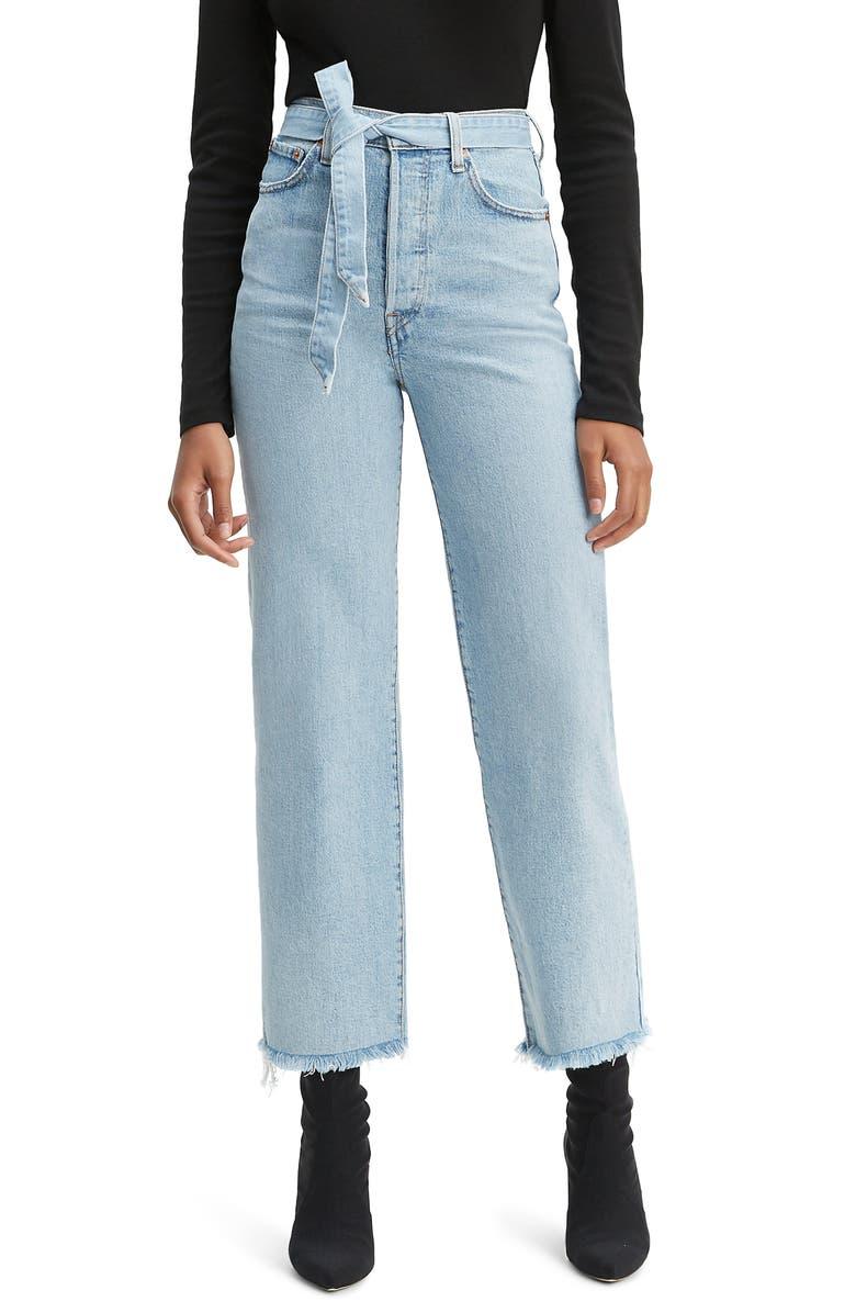 LEVI'S<SUP>®</SUP> Ribcage Super High Waist Ankle Straight Leg Jeans, Main, color, 420