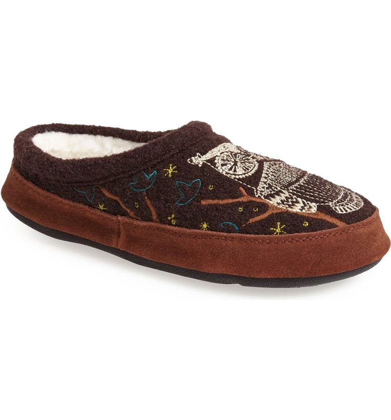 ACORN 'Forest' Wool Mule Slipper, Main, color, CHOCOLATE