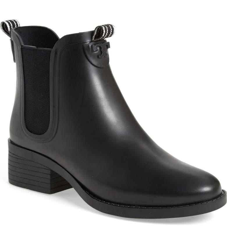 TORY BURCH Chelsea Rain Boot, Main, color, 001