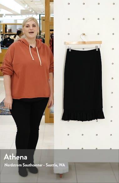 Ruffle Hem Knit Midi Skirt, sales video thumbnail