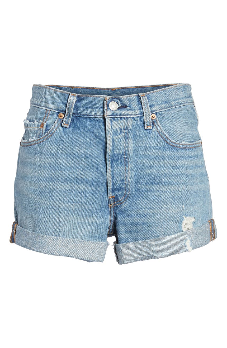 131f4890 Levi's® 501® Long Denim Shorts (Highways & Biways) | Nordstrom