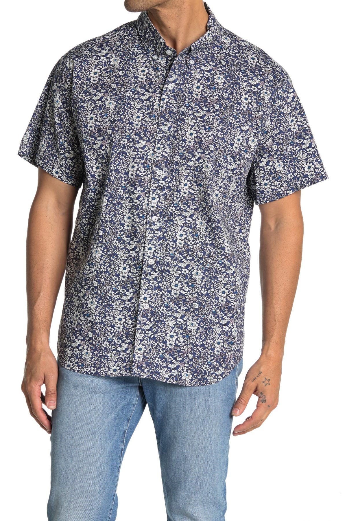 Image of J. Crew Floral Printed Short Sleeve Shirt