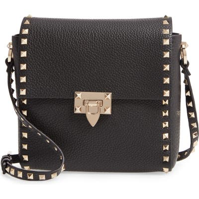 Valentino Garavani Rockstud Leather Shoulder Bag - Black