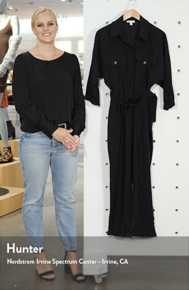 Belted Button-Up Long Sleeve Jumpsuit, sales video thumbnail