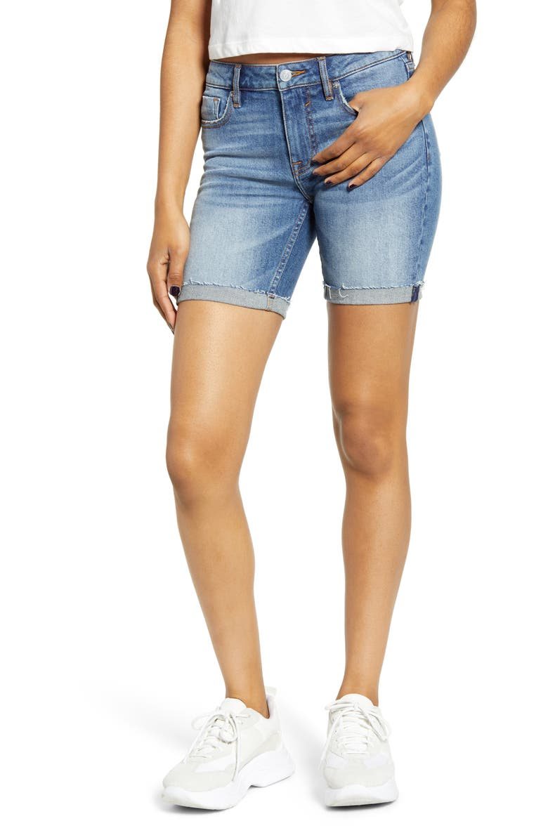 VIGOSS Marley Denim Bermuda Shorts, Main, color, MEDIUM WASH