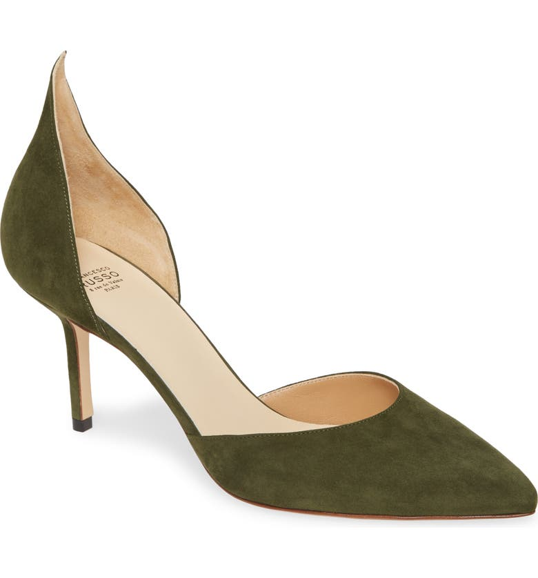 FRANCESCO RUSSO D'Orsay Pump, Main, color, MOSS GREEN