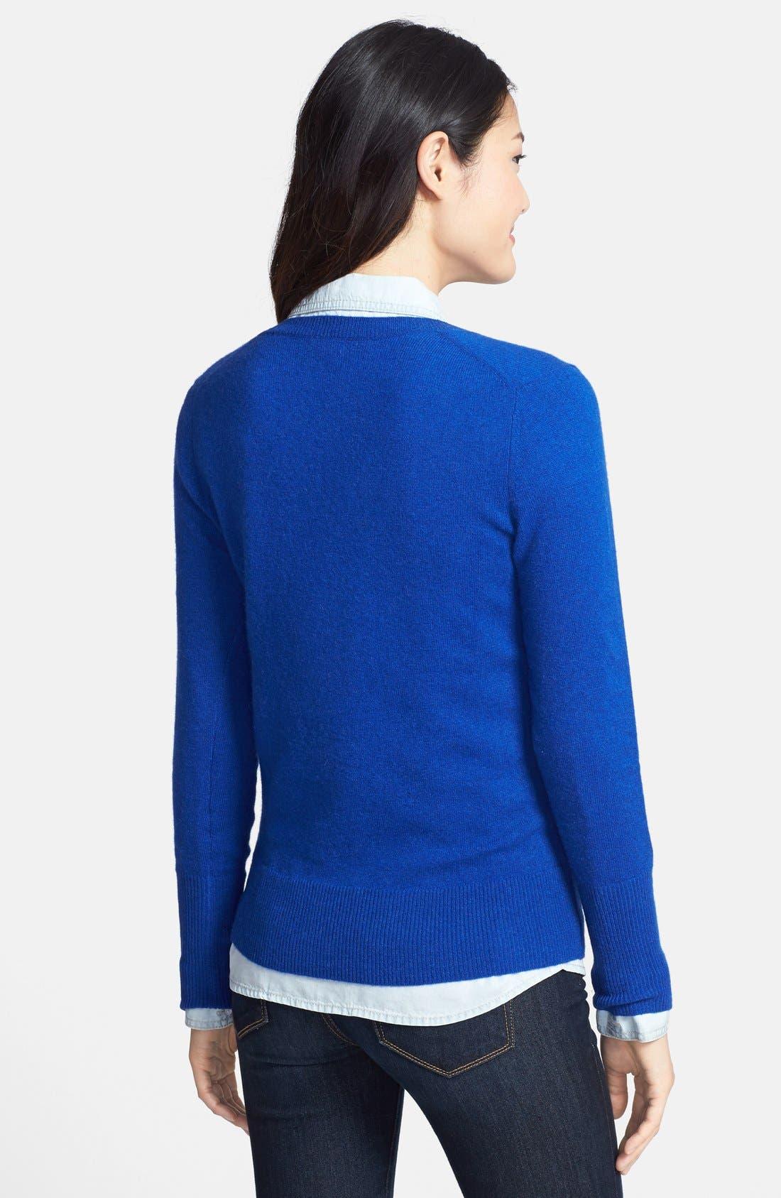 ,                             Cashmere V-Neck Sweater,                             Alternate thumbnail 38, color,                             420