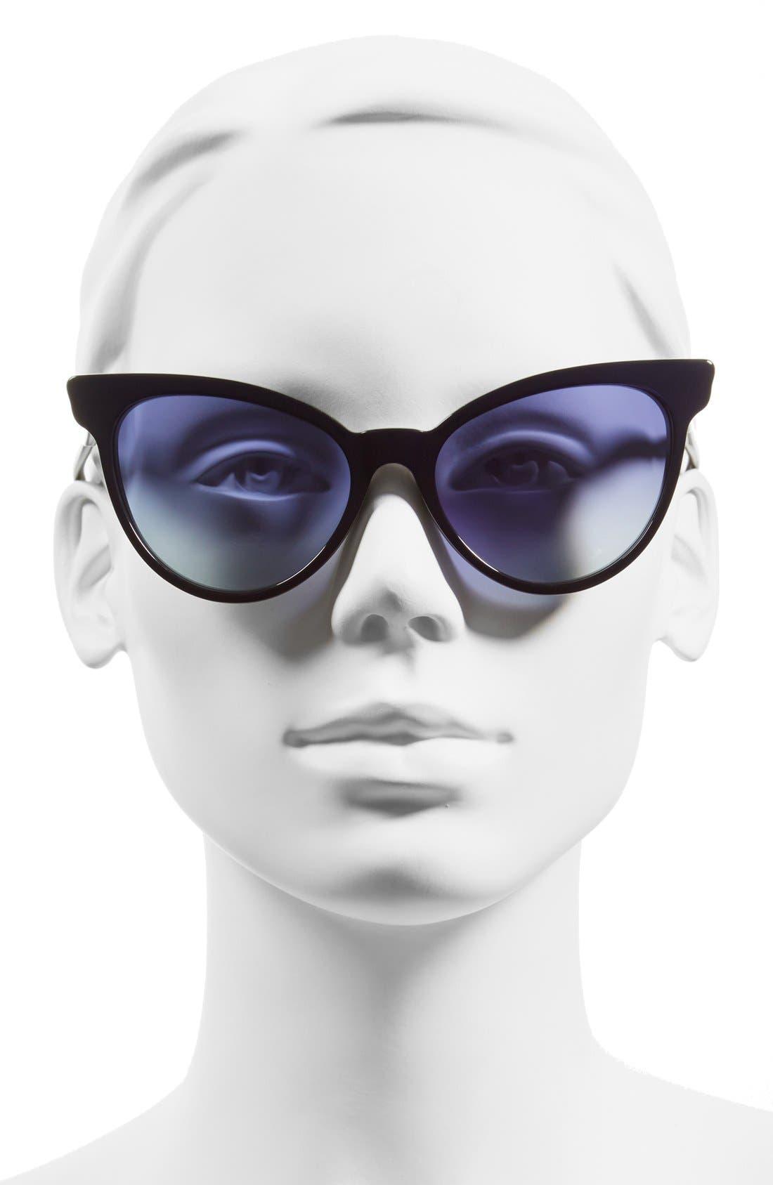 ,                             'La Femme' 55mm Sunglasses,                             Alternate thumbnail 15, color,                             400