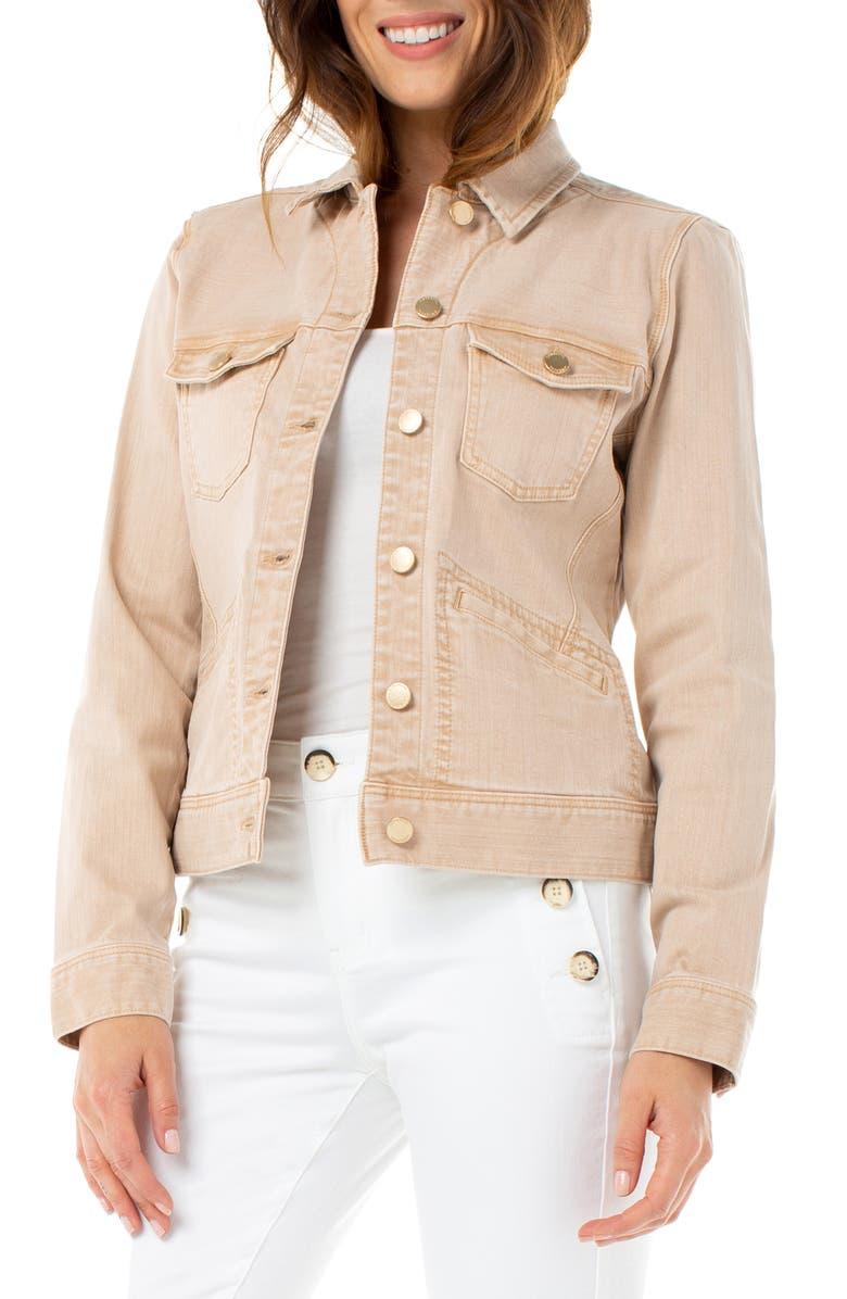 LIVERPOOL Denim Jacket, Main, color, PANAMA TAN