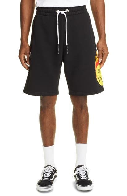 Palm Angels BURNING HEAD LOGO SWEAT SHORTS