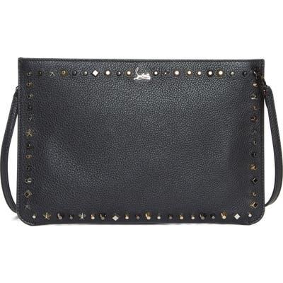 Christian Louboutin Loubiclutch Spiked Leather Clutch -