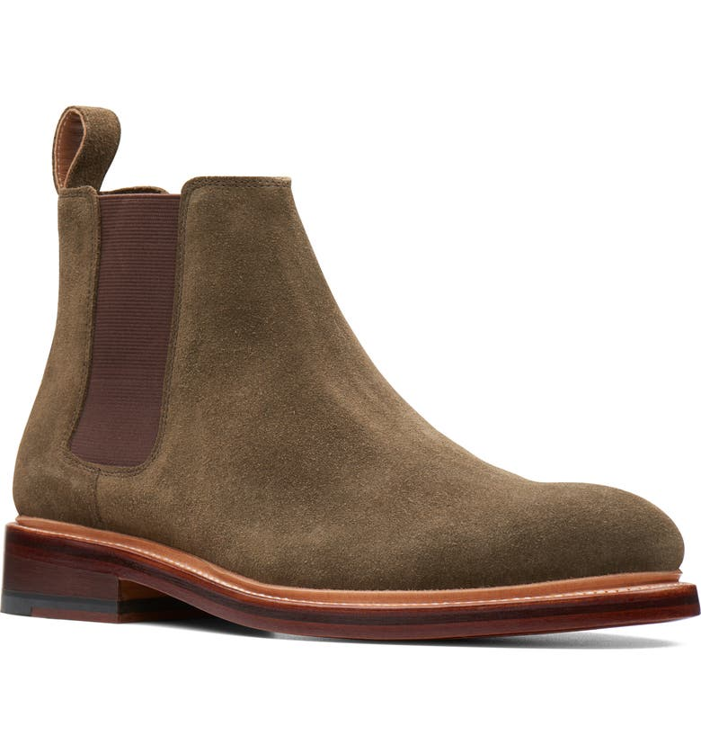 BOSTONIAN Somerville Hi Chelsea Boot, Main, color, OLIVE SUEDE