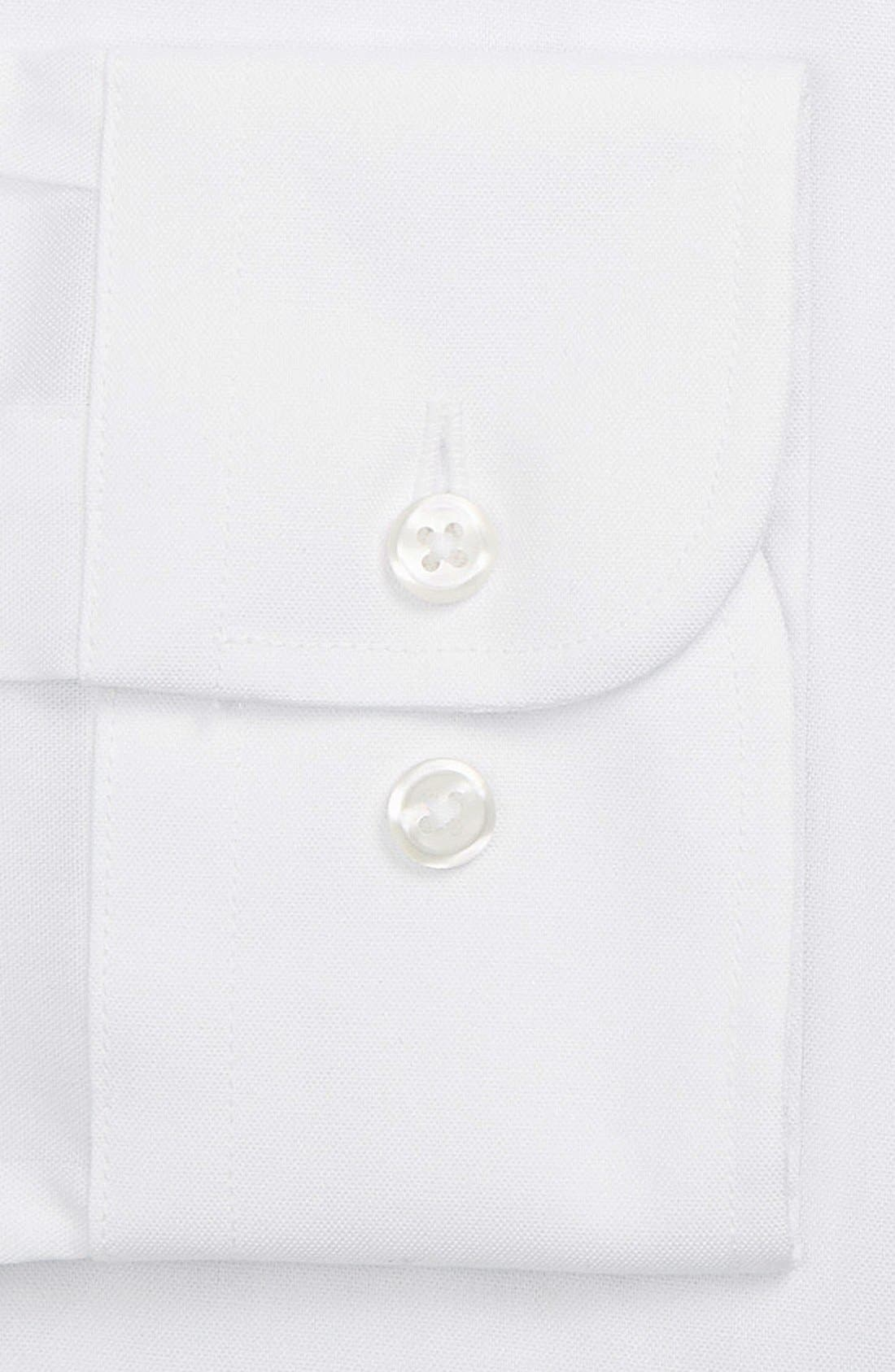 ,                             Extra Trim Fit Non-Iron Solid Dress Shirt,                             Alternate thumbnail 55, color,                             100