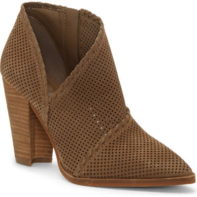 Vince Camuto Lamorna Perforated Pointy Toe Bootie, Green