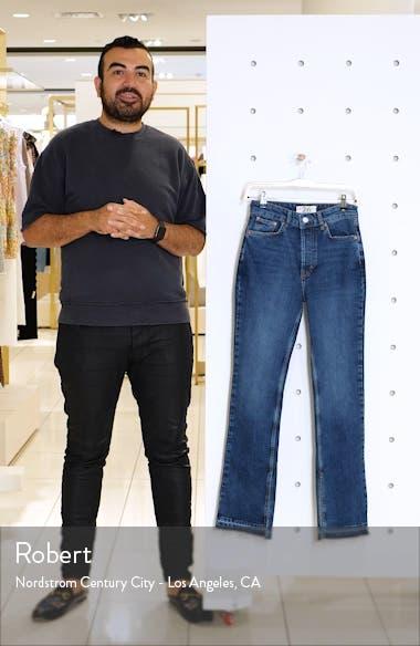 Emmy High Waist Split Hem Bootcut Jeans, sales video thumbnail