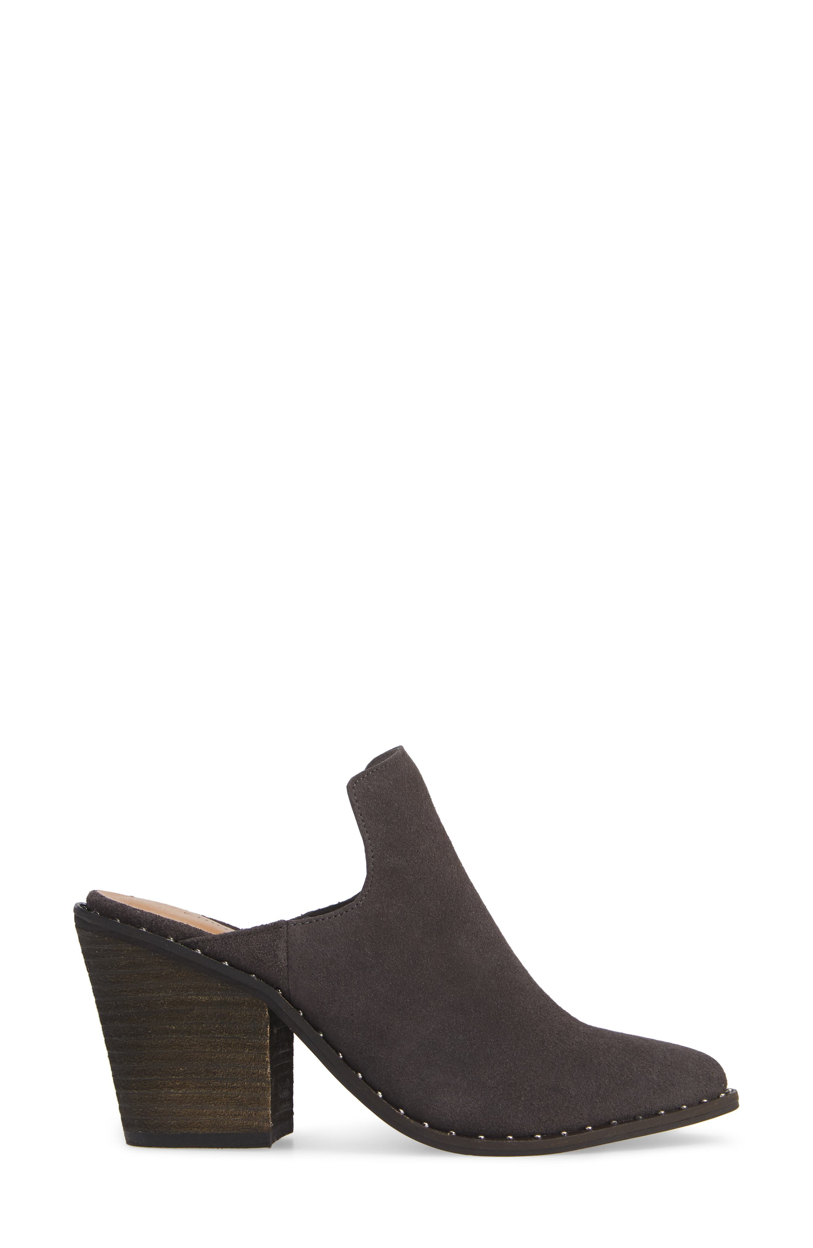 ,                             Springfield Mule Bootie,                             Alternate thumbnail 3, color,                             CHARCOAL SUEDE
