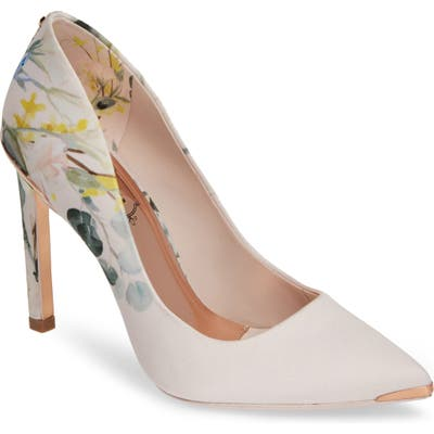 Ted Baker London Melnip Floral Print Pump, Pink