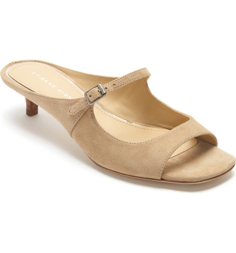 ETIENNE AIGNER Verity Mary Jane Slip-On Sandal, Main, color, SAHARRA SUEDE