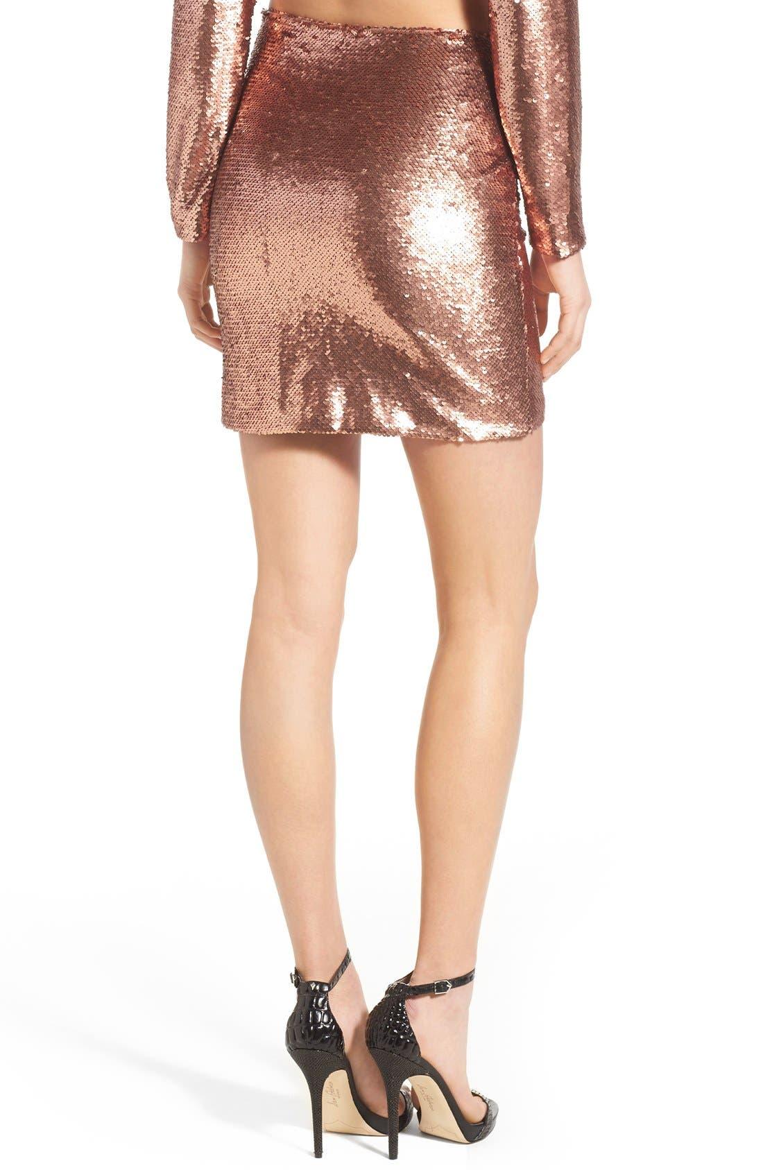 ,                             Sequin Miniskirt,                             Alternate thumbnail 6, color,                             220