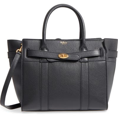 Mulberry Small Zip Bayswater Classic Leather Tote - Black