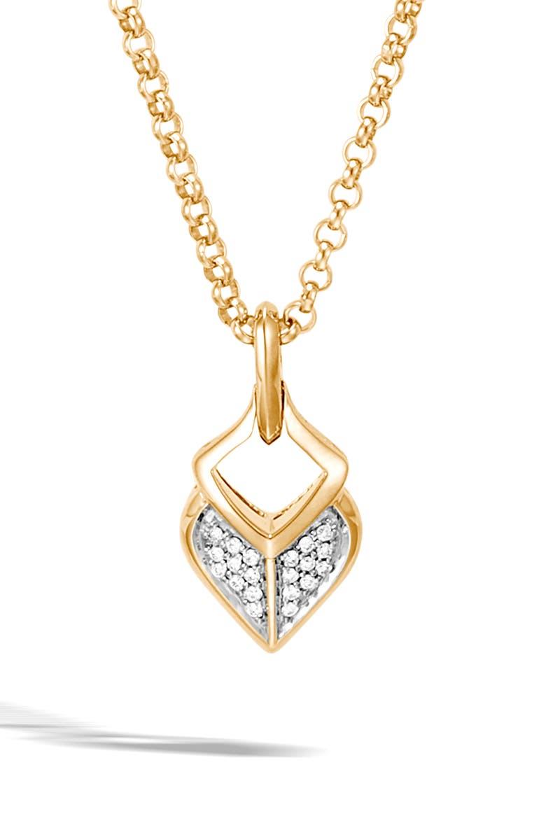 JOHN HARDY Legends Naga Pavé Diamond Pendant Necklace, Main, color, 710
