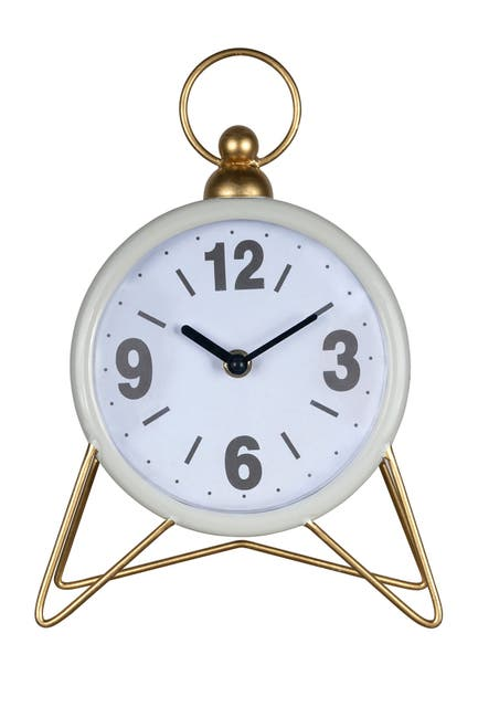 Image of Stratton Home Spencer White Table Top Clock