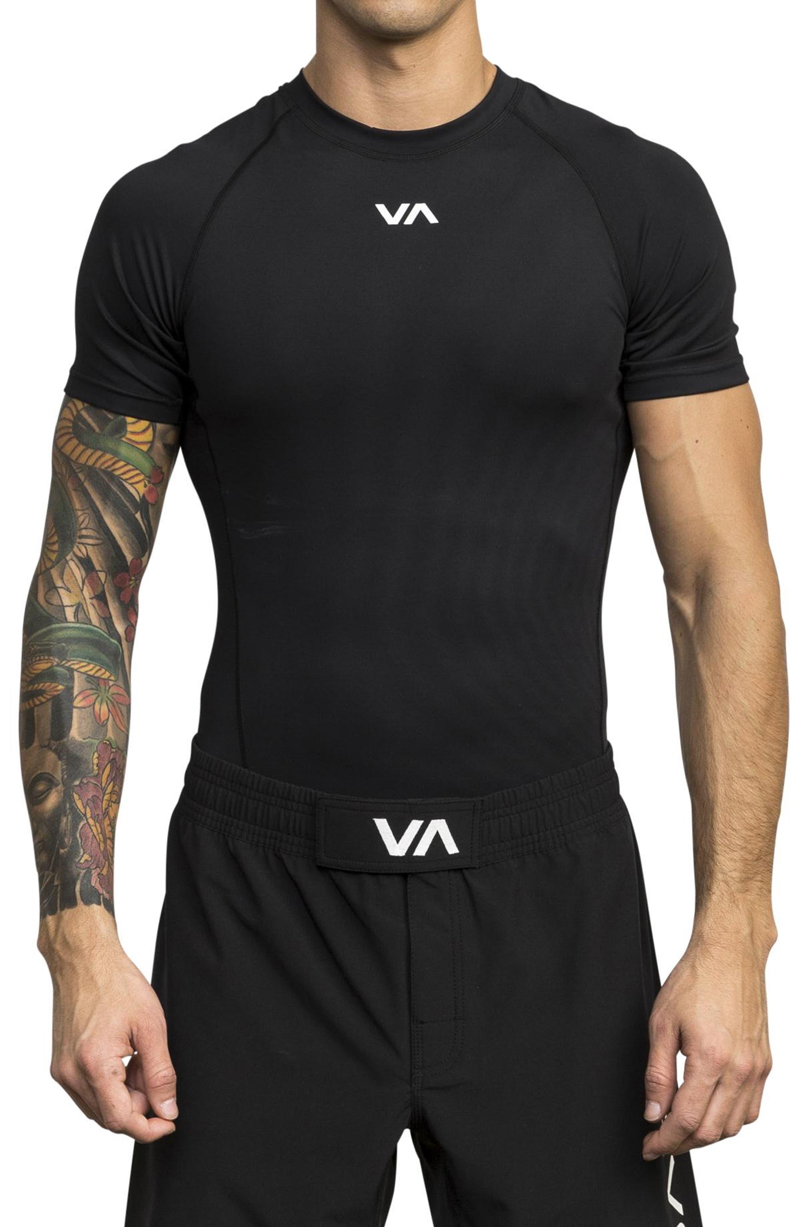 Rvca Va Compression T-Shirt, Black