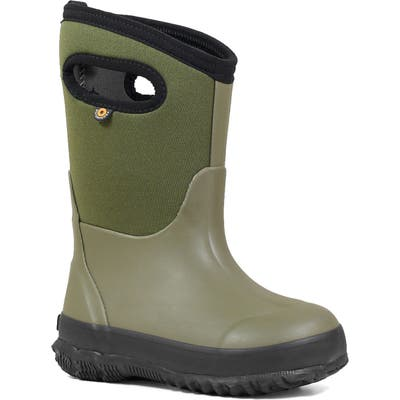 Toddler Bogs Classic Solid Insulated Waterproof Boot, Green