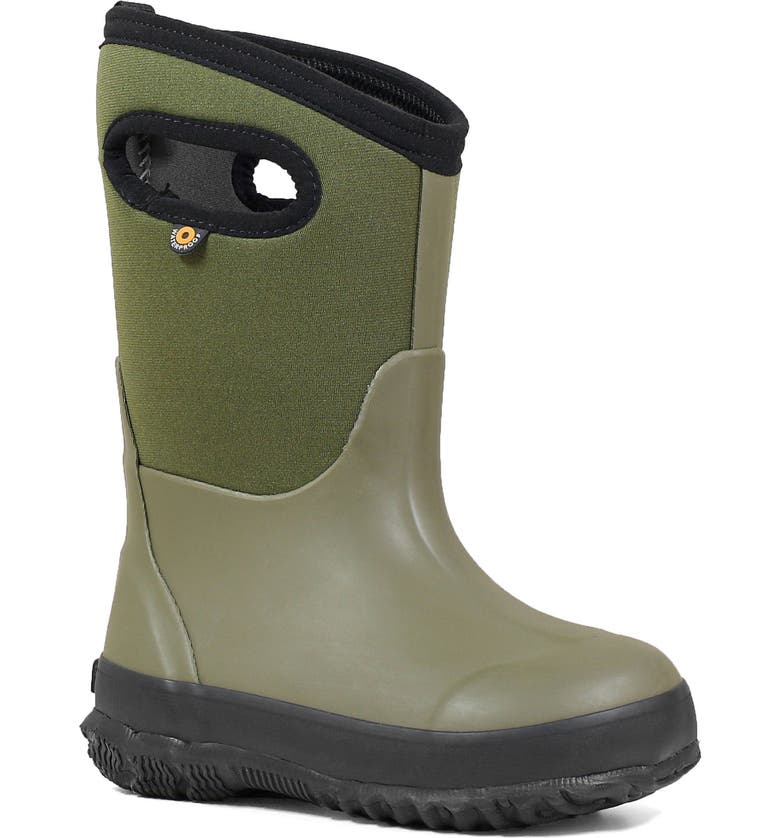 BOGS Classic Solid Insulated Waterproof Boot, Main, color, DARK GREEN