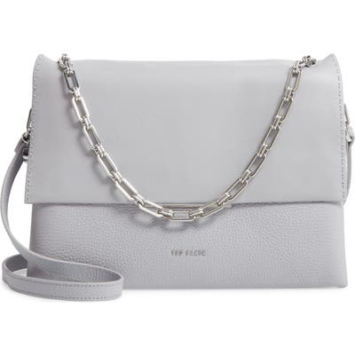 Ted Baker London Diaana Bar Leather Shoulder Bag - Grey