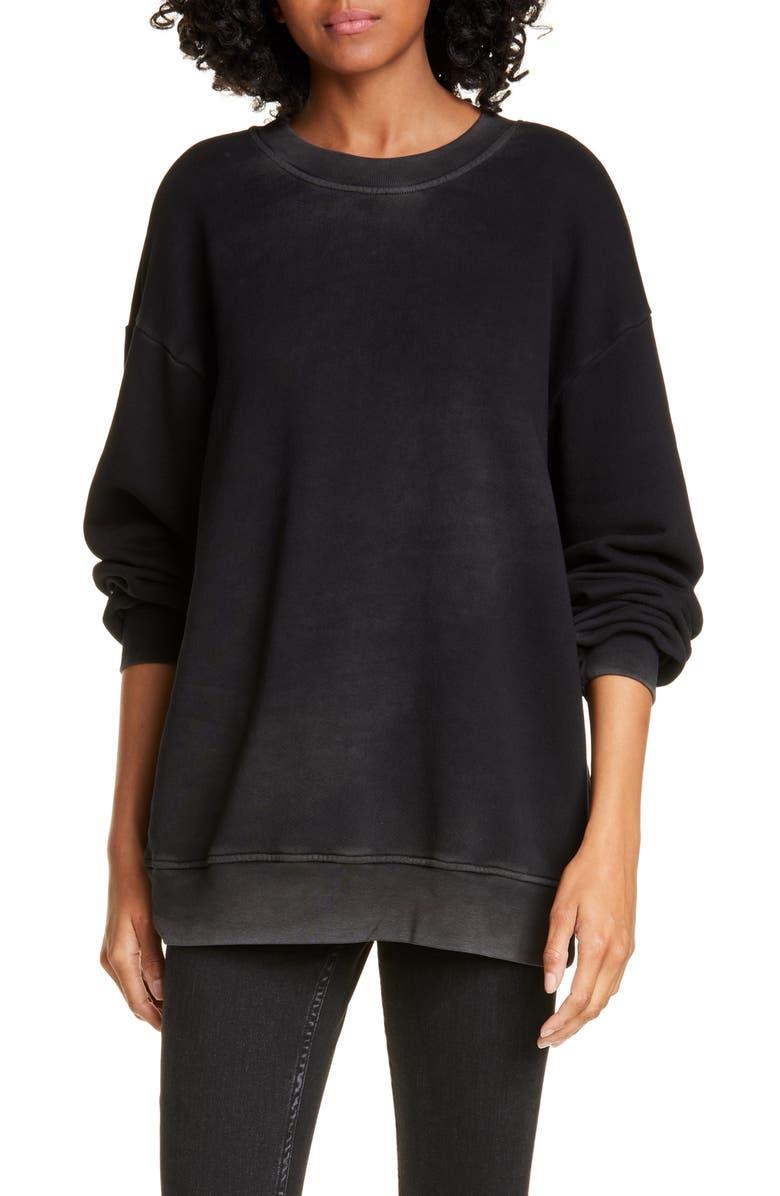 COTTON CITIZEN Brooklyn Oversize Crew Sweatshirt, Main, color, VINTAGE BLACK