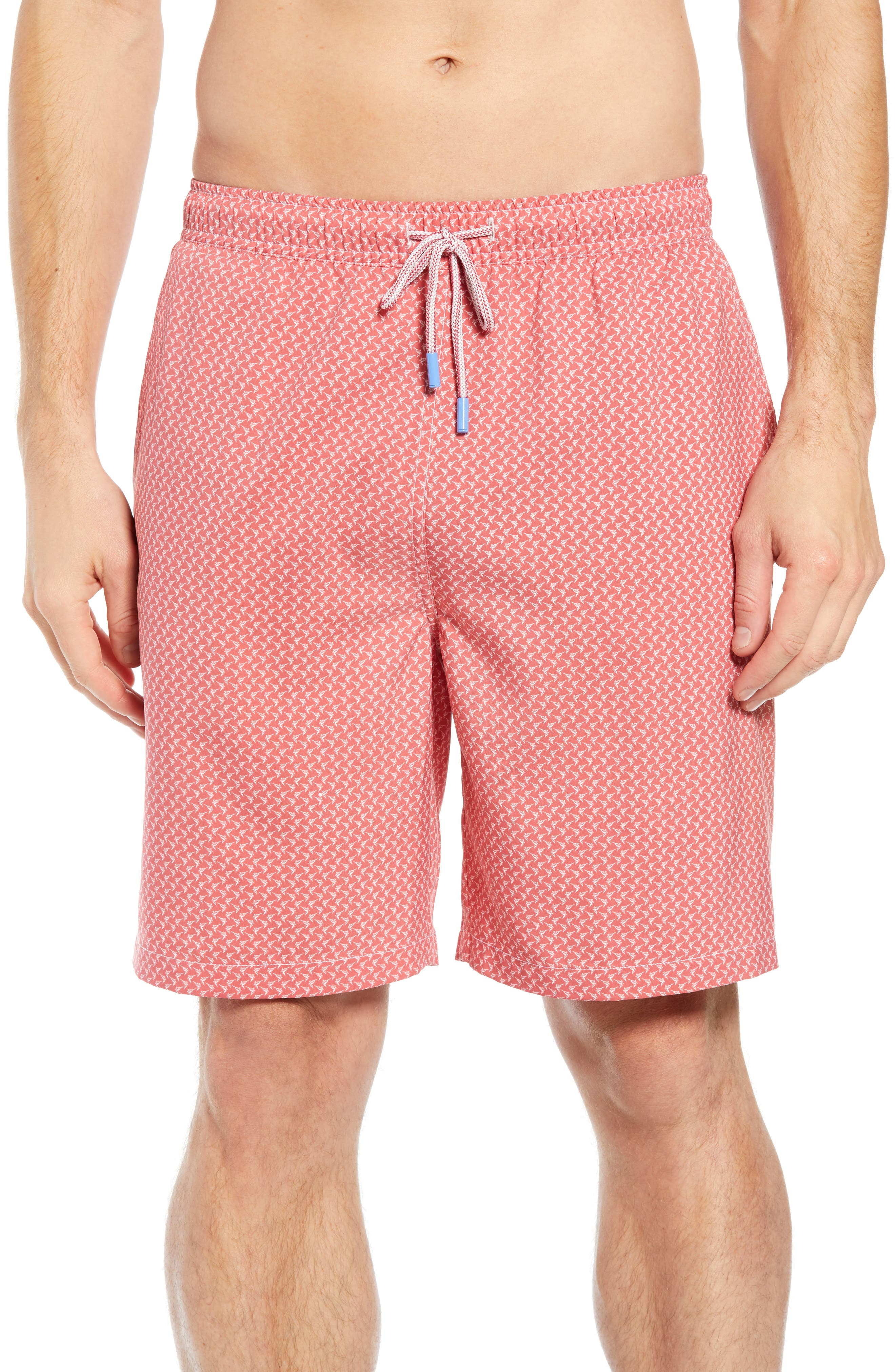 Peter Millar Bill Fish Swim Trunks, Pink