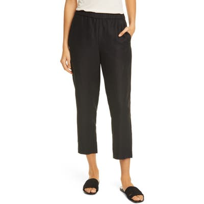 Eileen Fisher Slouchy Ankle Pants, Black