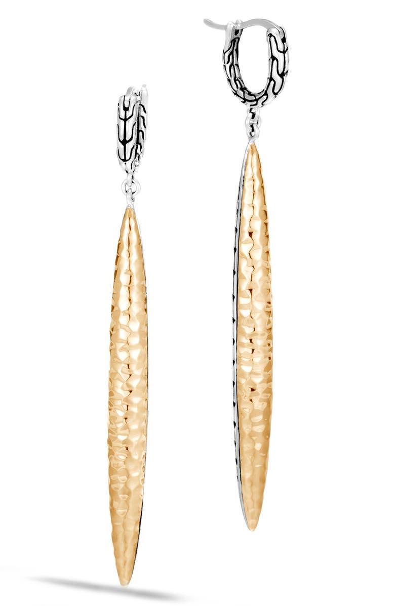 JOHN HARDY Classic Chain Drop Earrings, Main, color, SILVER/ GOLD