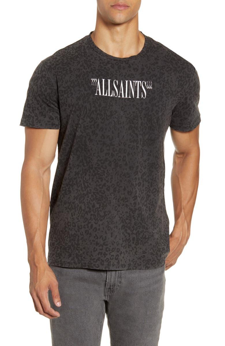 ALLSAINTS Lynx Print Graphic T-Shirt, Main, color, VINTAGE BLACK/ GREY