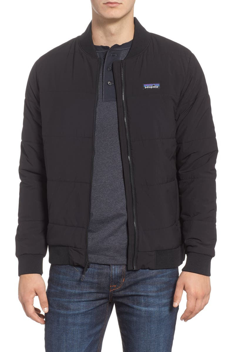 PATAGONIA Zemer Bomber Jacket, Main, color, BLACK