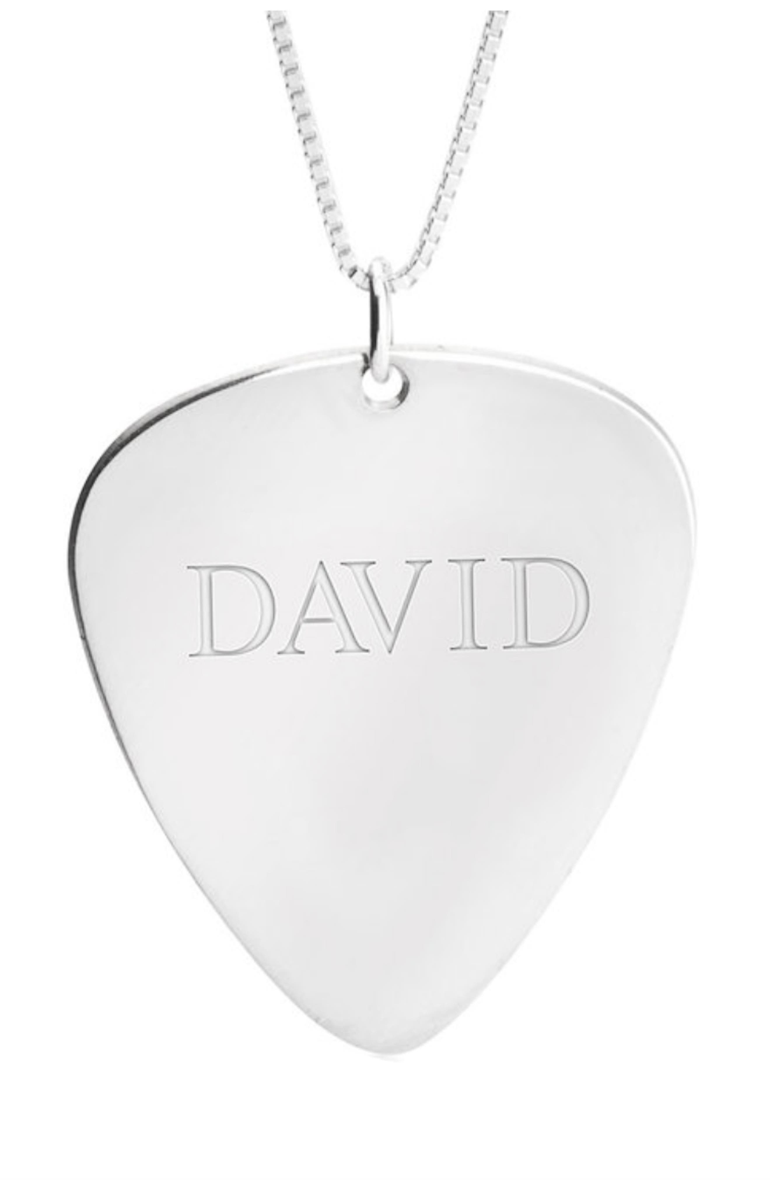 Personalized Guitar Pick Pendant Necklace
