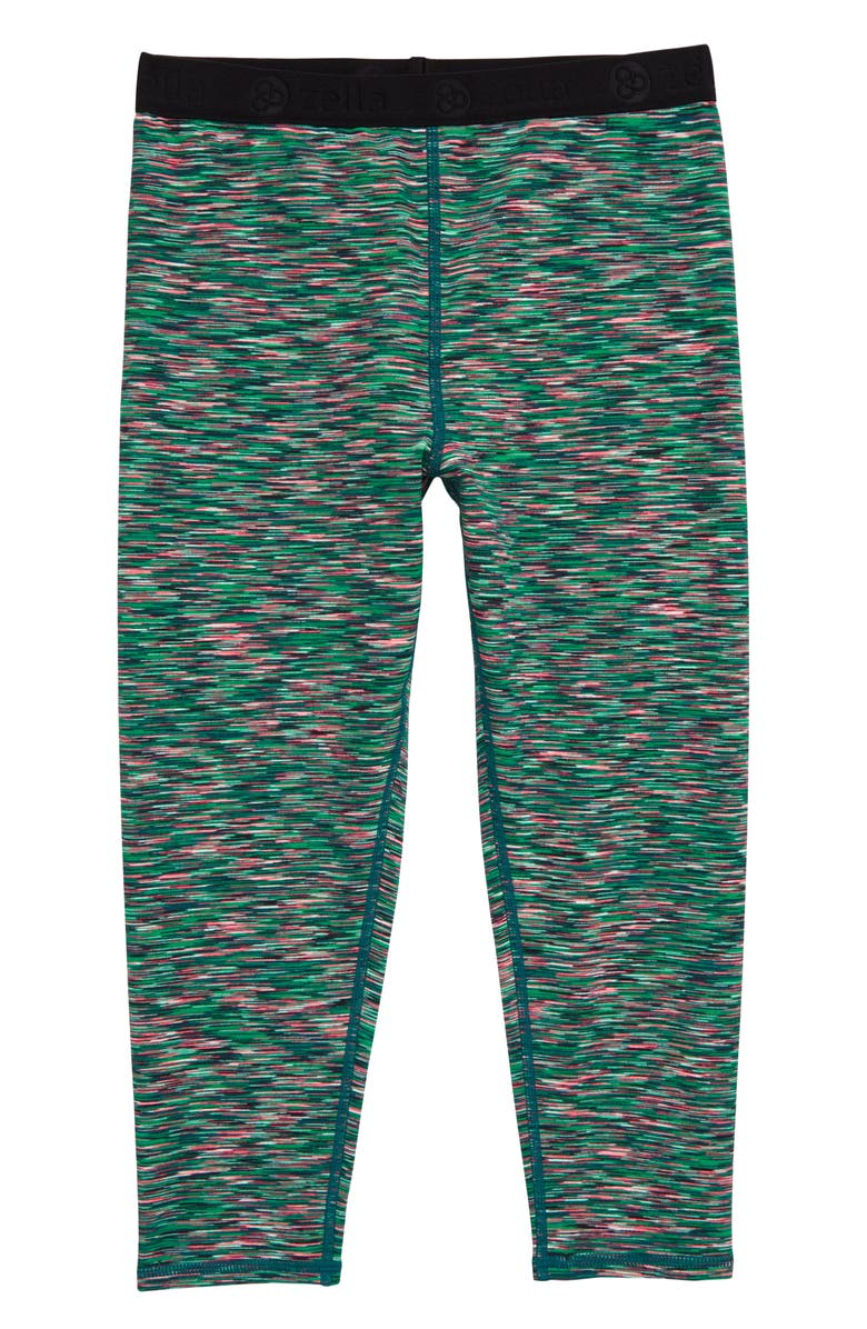 ZELLA GIRL Cosmic Crop Leggings, Main, color, GREEN PADDY COSMIC SPACEDYE