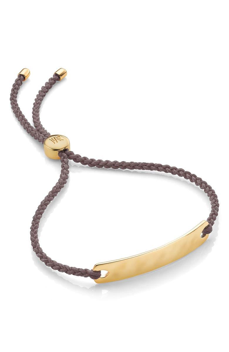 MONICA VINADER Engravable Havana Mini Friendship Bracelet, Main, color, GOLD/ MINK
