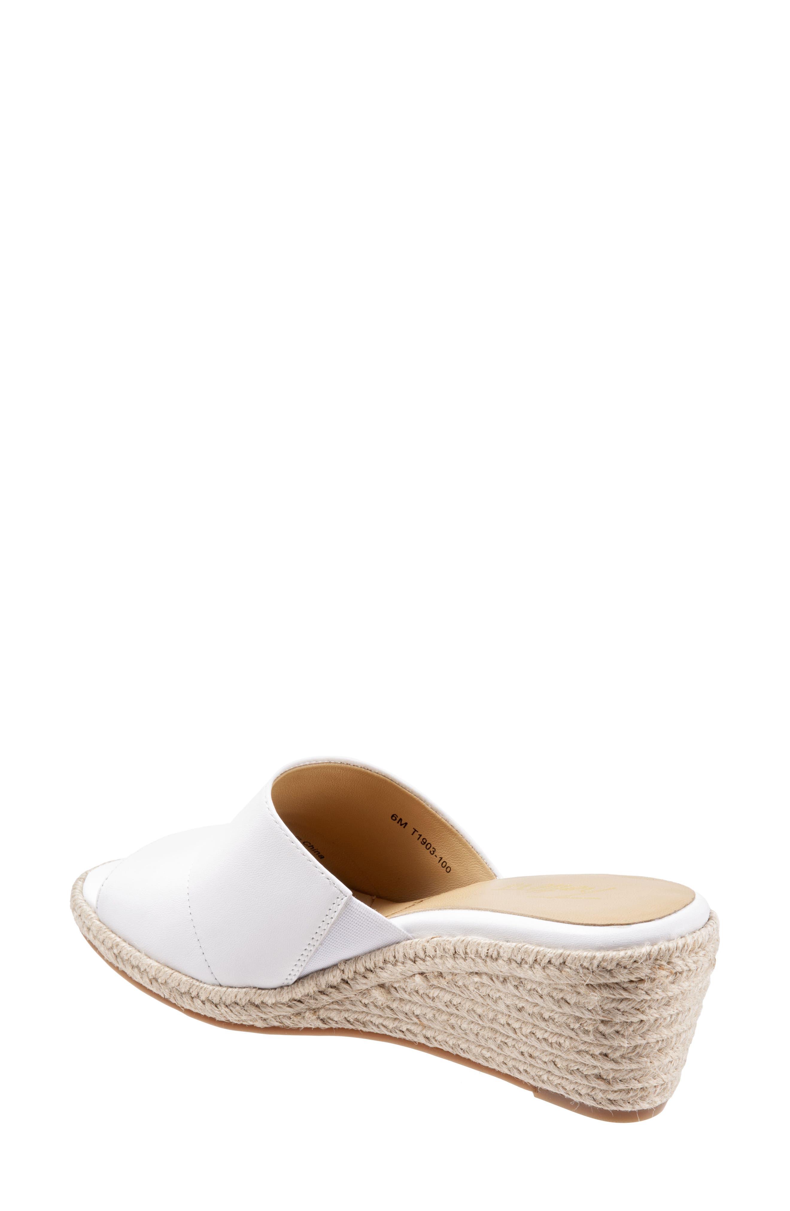 ,                             Colony Wedge Slide Sandal,                             Alternate thumbnail 2, color,                             WHITE LEATHER
