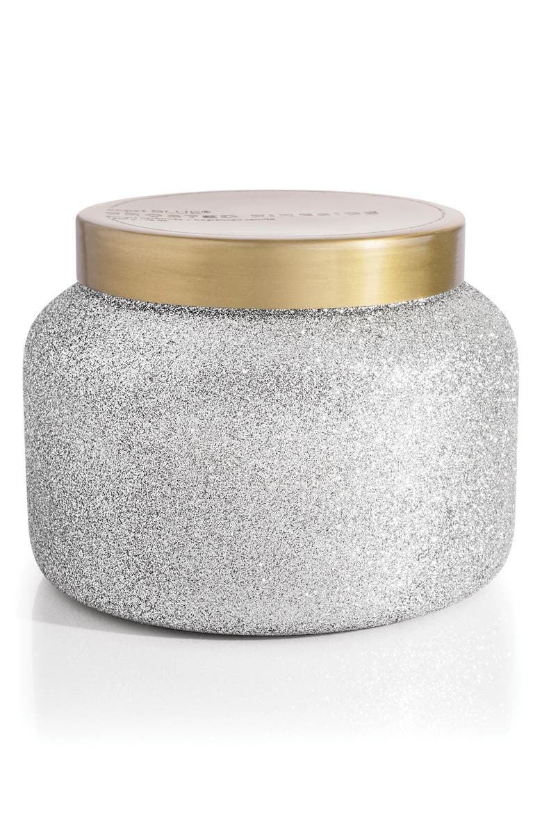 CAPRI BLUE Glam Jumbo Jar Candle, Main, color, FROSTED FIRESIDE