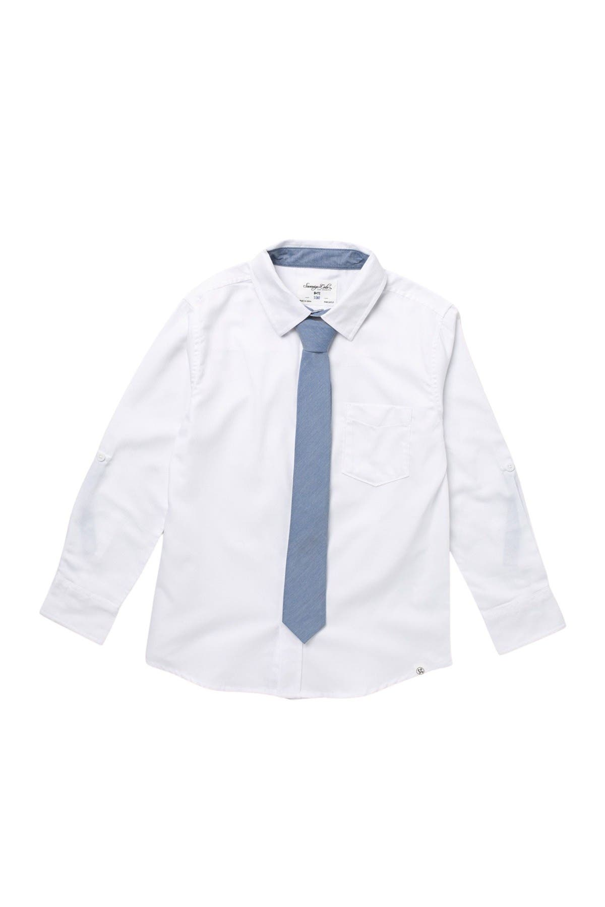 Image of Sovereign Code Solid Shirt & Tie Set