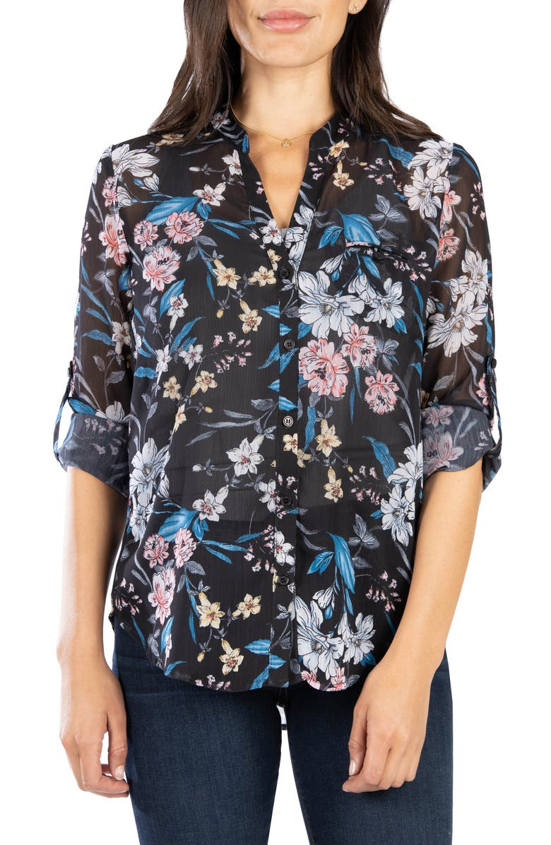 KUT FROM THE KLOTH Jasmine Top, Main, color, CANNES BLACK