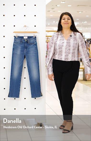 Le High Straight Slit Hem Ankle Jeans, sales video thumbnail