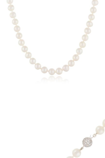 Image of Splendid Pearls 10-11mm White Cultured Freshwater Pearl Necklace