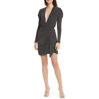 Jonathan Simkhai Glitter Jersey Long Sleeve Minidress, Black