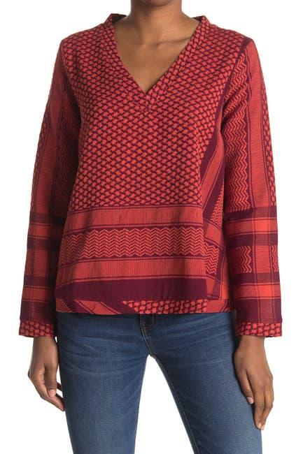 Image of Cecilie Copenhagen V-Neck Long Sleeve Shirt