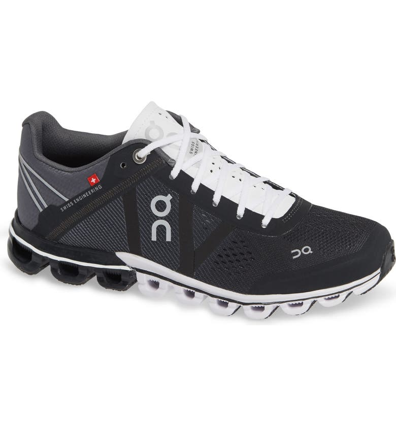 ON Cloudflow Running Shoe, Main, color, BLACK/ WHITE