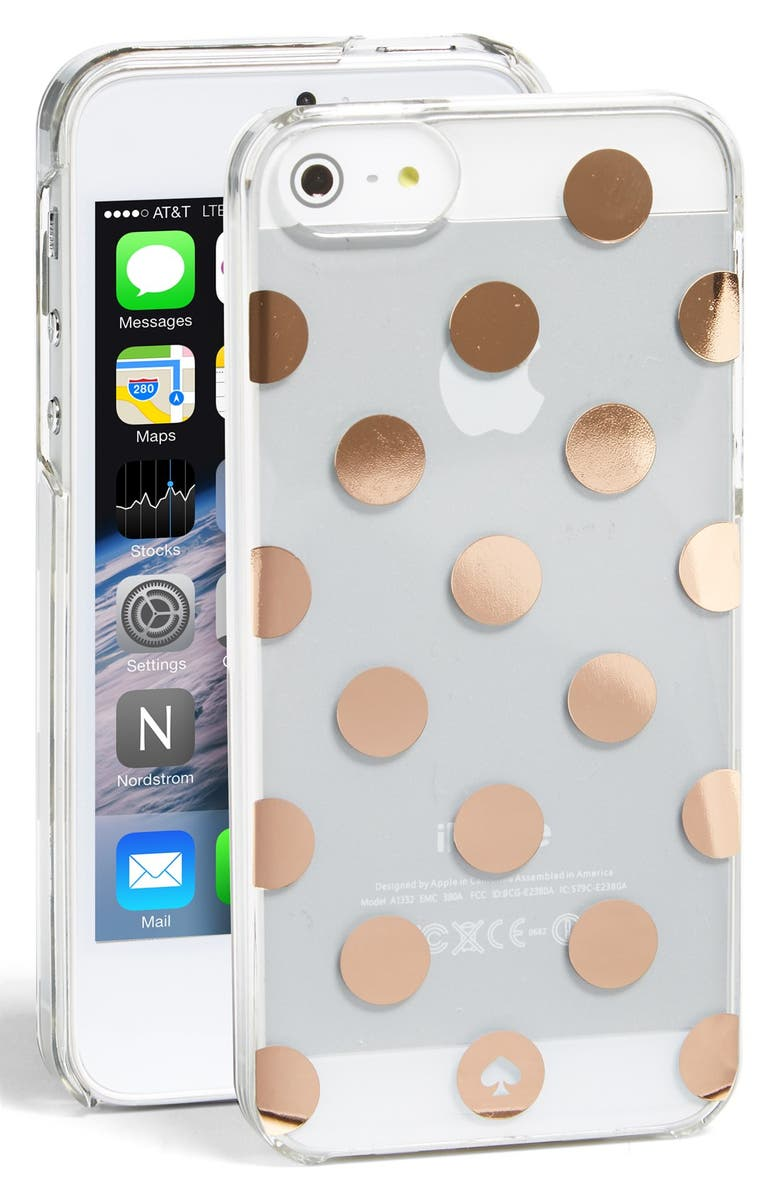 KATE SPADE NEW YORK 'le pavillion' iPhone 5 & 5s case, Main, color, 999