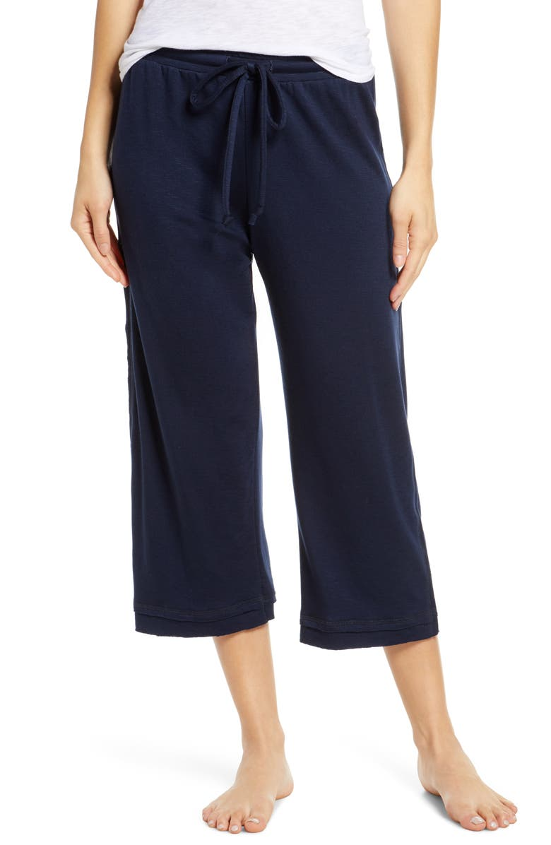 GROCERIES APPAREL Crop Lounge Pants, Main, color, INK